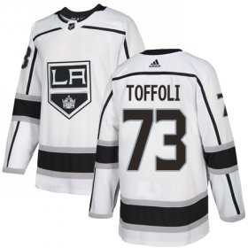 Wholesale Cheap Adidas Kings #73 Tyler Toffoli White Road Authentic Stitched Youth NHL Jersey