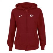 Wholesale Cheap Nike Kansas City Chiefs Ladies Tailgater Full Zip Hoodie Red