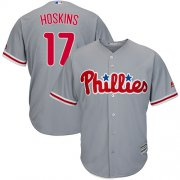 Wholesale Cheap Phillies #17 Rhys Hoskins Grey Cool Base Stitched Youth MLB Jersey