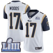 Wholesale Cheap Nike Rams #17 Robert Woods White Super Bowl LIII Bound Men's Stitched NFL Vapor Untouchable Limited Jersey