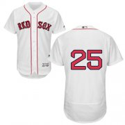 Wholesale Cheap Red Sox #25 Jackie Bradley Jr White Flexbase Authentic Collection Stitched MLB Jersey