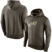 Wholesale Cheap Men's Philadelphia Eagles Nike Olive Salute To Service KO Performance Hoodie