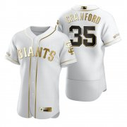 Wholesale Cheap San Francisco Giants #35 Brandon Crawford White Nike Men's Authentic Golden Edition MLB Jersey