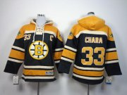 Wholesale Cheap Bruins #33 Zdeno Chara Black Sawyer Hooded Sweatshirt Stitched Youth NHL Jersey