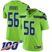 Wholesale Cheap Nike Seahawks #56 Jordyn Brooks Green Men's Stitched NFL Limited Rush 100th Season Jersey