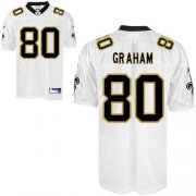 Wholesale Cheap Saints #80 Jimmy Graham White Stitched NFL Jersey
