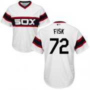 Wholesale Cheap White Sox #72 Carlton Fisk White Alternate Home Cool Base Stitched Youth MLB Jersey