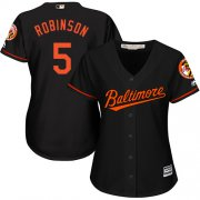 Wholesale Cheap Orioles #5 Brooks Robinson Black Alternate Women's Stitched MLB Jersey