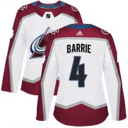 Wholesale Cheap Adidas Avalanche #4 Tyson Barrie White Road Authentic Women's Stitched NHL Jersey