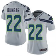 Wholesale Cheap Nike Seahawks #22 Quinton Dunbar Grey Alternate Women's Stitched NFL Vapor Untouchable Limited Jersey