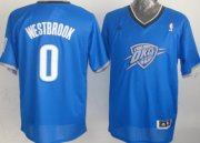 Wholesale Cheap Oklahoma City Thunder #0 Russell Westbrook Revolution 30 Swingman 2013 Christmas Day Blue Jersey