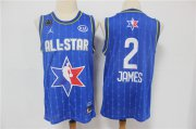 Wholesale Cheap Men's Los Angeles Lakers #2 LeBron James Blue Jordan Brand 2020 All-Star Game Swingman Stitched NBA Jersey