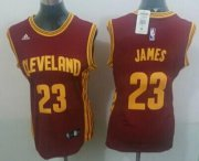 Wholesale Cheap Cleveland Cavaliers #23 LeBron James 2014 New Red Womens Jersey