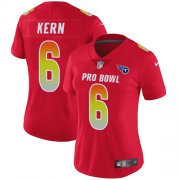 Wholesale Cheap Nike Titans #6 Brett Kern Red Women's Stitched NFL Limited AFC 2018 Pro Bowl Jersey