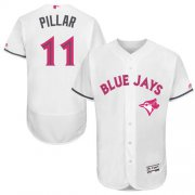 Wholesale Cheap Blue Jays #11 Kevin Pillar White Flexbase Authentic Collection Mother's Day Stitched MLB Jersey