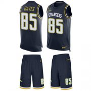 Wholesale Cheap Nike Chargers #85 Antonio Gates Navy Blue Team Color Men's Stitched NFL Limited Tank Top Suit Jersey