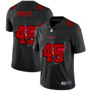 Wholesale Cheap Tampa Bay Buccaneers #45 Devin White Men's Nike Team Logo Dual Overlap Limited NFL Jersey Black
