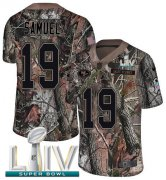 Wholesale Cheap Nike 49ers #19 Deebo Samuel Camo Super Bowl LIV 2020 Men's Stitched NFL Limited Rush Realtree Jersey