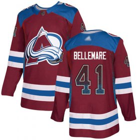 Wholesale Cheap Adidas Avalanche #41 Pierre-Edouard Bellemare Burgundy Home Authentic Drift Fashion Stitched NHL Jersey