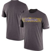 Wholesale Cheap Minnesota Vikings Nike Sideline Seismic Legend Performance T-Shirt Charcoal