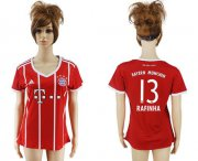 Wholesale Cheap Women's Bayern Munchen #13 Rafinha Home Soccer Club Jersey