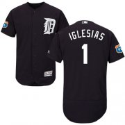 Wholesale Cheap Tigers #1 Jose Iglesias Navy Blue Flexbase Authentic Collection Stitched MLB Jersey