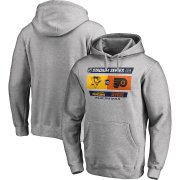 Wholesale Cheap Men's Pittsburgh Penguins vs. Philadelphia Flyers Heather Gray 2019 Stadium Series Matchup Pullover Hoodie