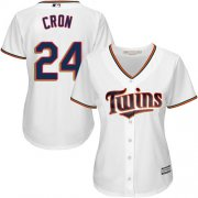 Wholesale Cheap Twins #24 C.J. Cron White Home Women's Stitched MLB Jersey