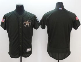 Wholesale Astros Blank Green Flexbase Authentic Collection Salute to Service Stitched Baseball Jersey