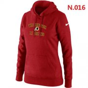 Wholesale Cheap Women's Nike Washington Redskins Heart & Soul Pullover Hoodie Red