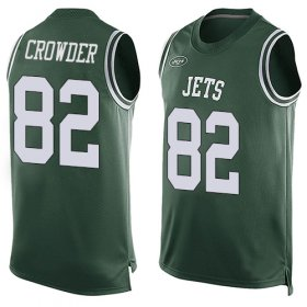 Wholesale Cheap Nike Jets #82 Jamison Crowder Green Team Color Men\'s Stitched NFL Limited Tank Top Jersey