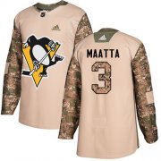 Wholesale Cheap Adidas Penguins #3 Olli Maatta Camo Authentic 2017 Veterans Day Stitched Youth NHL Jersey