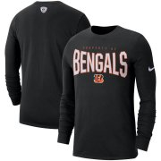Wholesale Cheap Cincinnati Bengals Nike Sideline Property Of Performance Long Sleeve T-Shirt Black