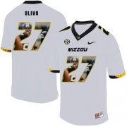 Wholesale Cheap Missouri Tigers 27 Brock Olivo White Nike Fashion College Football Jersey