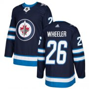 Wholesale Cheap Adidas Jets #26 Blake Wheeler Navy Blue Home Authentic Stitched Youth NHL Jersey