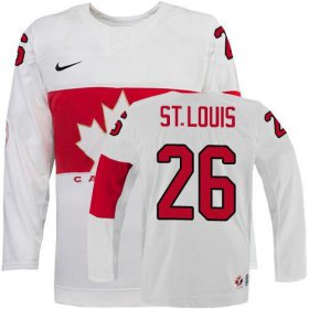 Wholesale Cheap Olympic 2014 CA. #26 Martin St. Louis White Stitched NHL Jersey