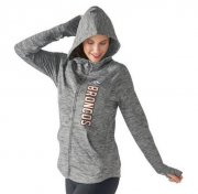 Wholesale Cheap Women's NFL Denver Broncos G-III 4Her by Carl Banks Recovery Full-Zip Hoodie Heathered Gray