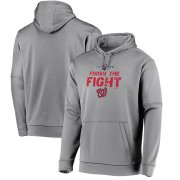 Wholesale Cheap Washington Nationals Majestic 2019 World Series Bound Collection Dugout Pullover Hoodie Gray