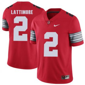 Wholesale Cheap Ohio State Buckeyes 2 Marshon Lattimore Red 2018 Spring Game College Football Limited Jersey