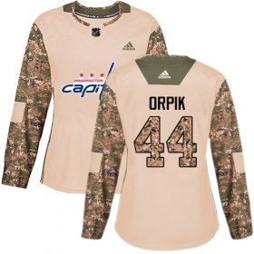 Wholesale Cheap Adidas Capitals #44 Brooks Orpik Camo Authentic 2017 Veterans Day Women\'s Stitched NHL Jersey