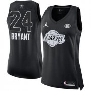 Wholesale Cheap Nike Los Angeles Lakers #24 Kobe Bryant Black Women's NBA Jordan Swingman 2018 All-Star Game Jersey