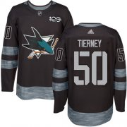 Wholesale Cheap Adidas Sharks #50 Chris Tierney Black 1917-2017 100th Anniversary Stitched NHL Jersey