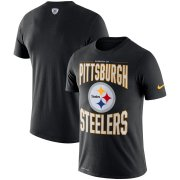 Wholesale Cheap Pittsburgh Steelers Nike Team Logo Sideline Property Of Performance T-Shirt Black