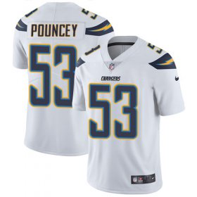 Wholesale Cheap Nike Chargers #53 Mike Pouncey White Youth Stitched NFL Vapor Untouchable Limited Jersey