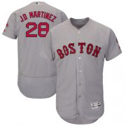 Wholesale Cheap Red Sox #28 J. D. Martinez Grey Flexbase Authentic Collection Stitched MLB Jersey