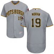 Wholesale Cheap Pirates #19 Colin Moran Grey Flexbase Authentic Collection Stitched MLB Jersey