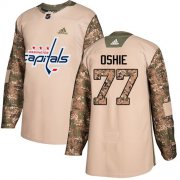 Wholesale Cheap Adidas Capitals #77 T.J. Oshie Camo Authentic 2017 Veterans Day Stitched NHL Jersey