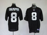 Wholesale Cheap Raiders Daunte Culpepper #8 Stitched Black NFL Jersey
