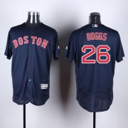 Wholesale Cheap Red Sox #26 Wade Boggs Navy Blue Flexbase Authentic Collection Stitched MLB Jersey