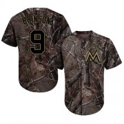 Wholesale Cheap Marlins #9 Lewis Brinson Camo Realtree Collection Cool Base Stitched Youth MLB Jersey